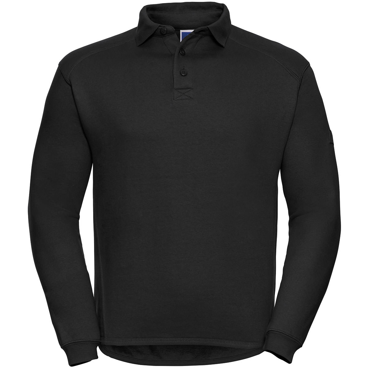 Workwear Sweatshirt mit Polo-Kragen
