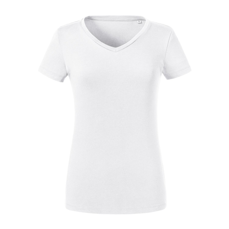 Damen Pure Organic T-Shirt mit V-Ausschnitt