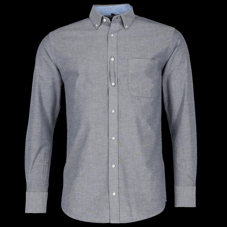 Tailliertes Washed Oxford Hemd - Langarm