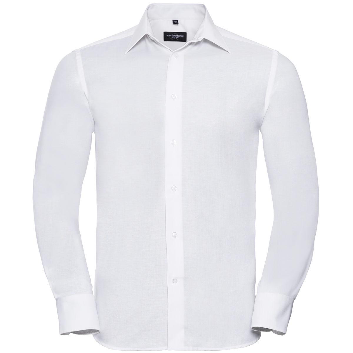 Tailliertes Oxford Hemd - Langarm