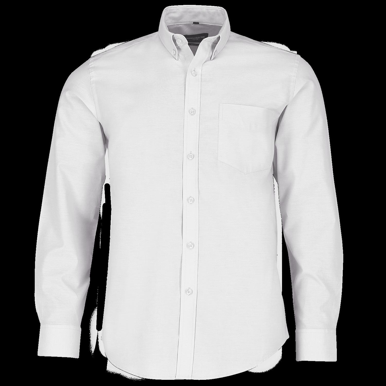 Tailliertes Button-Down Oxford Hemd - Langarm