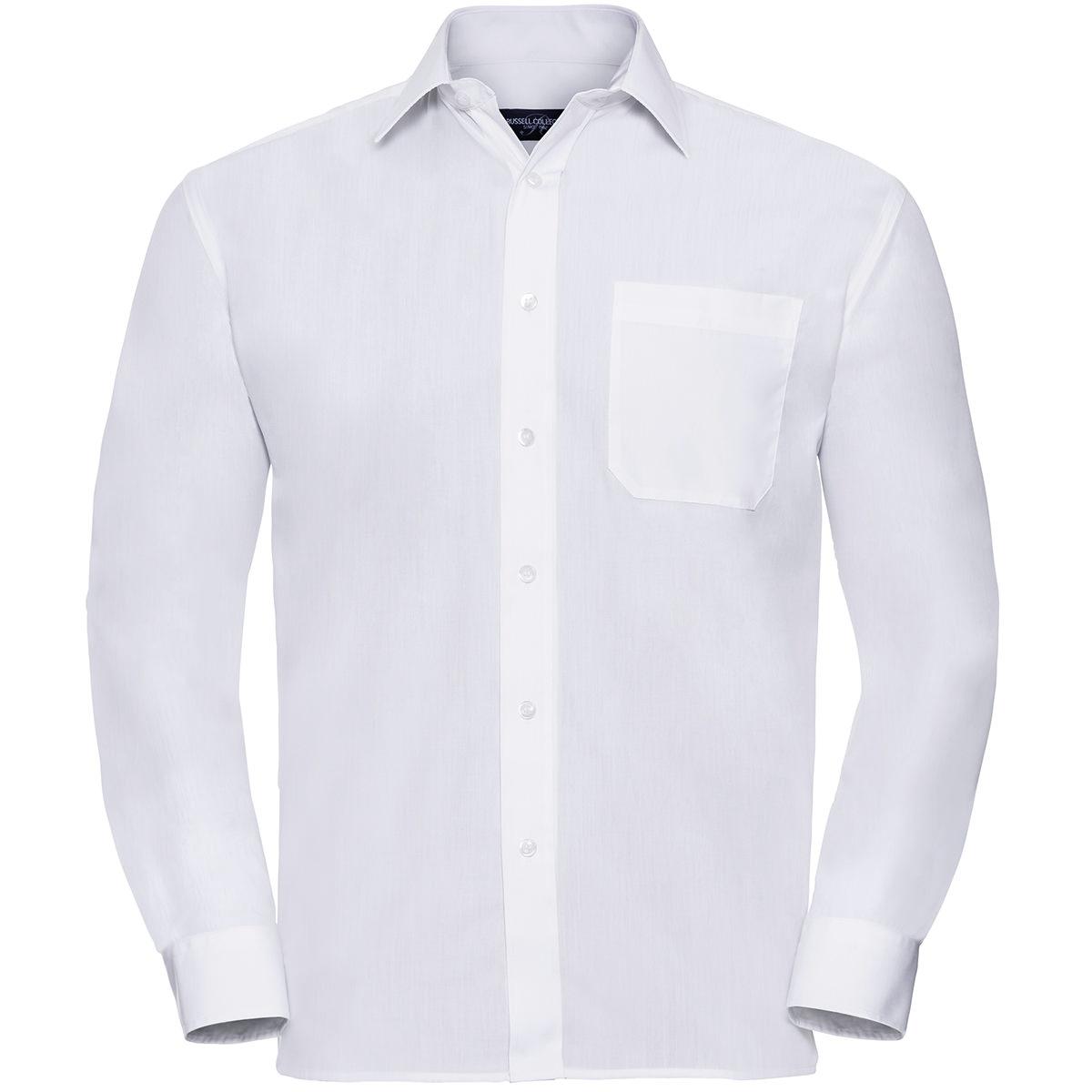 Klassisches Baumwollmischgewebe Popeline Hemd - Langarm