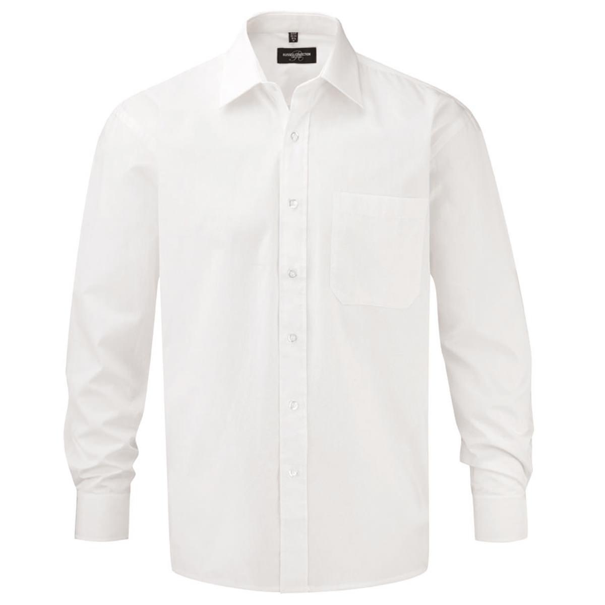 Klassisches Baumwoll Popeline Hemd - Langarm