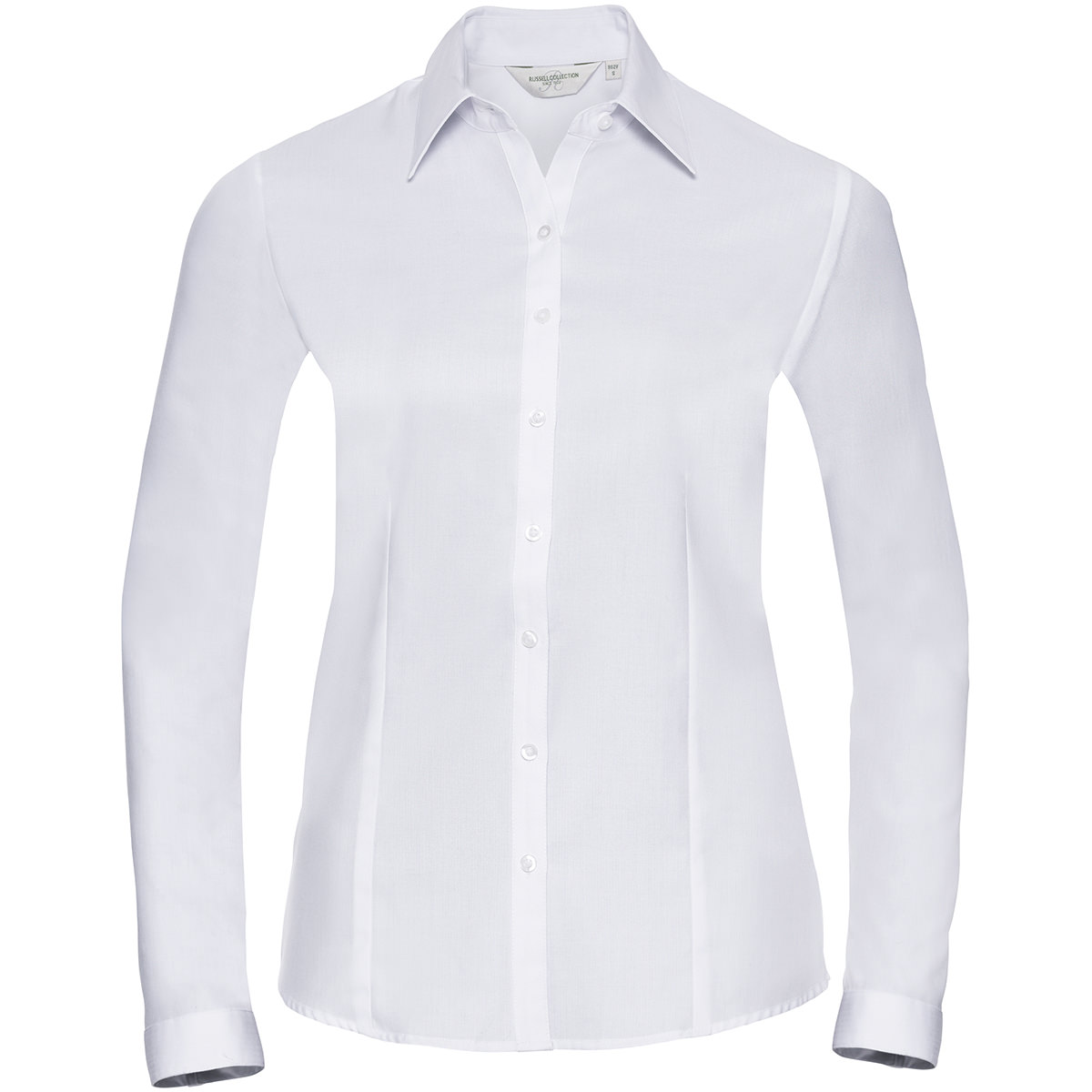Taillierte Herringbone Bluse - Langarm