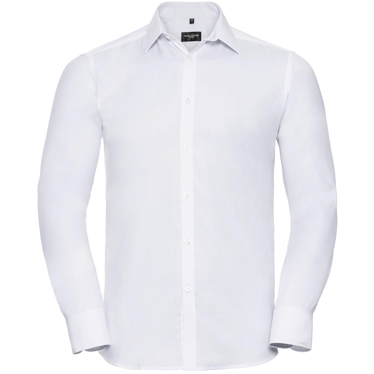 Tailliertes Herringbone Hemd - Langarm