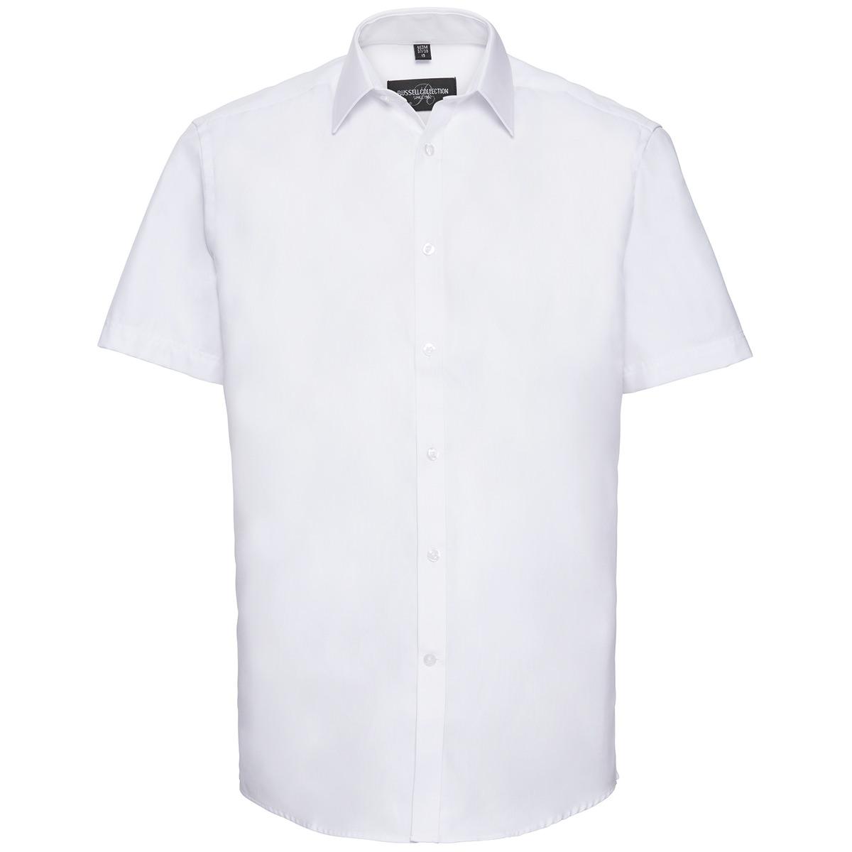 Tailliertes Herringbone Hemd - Kurzarm