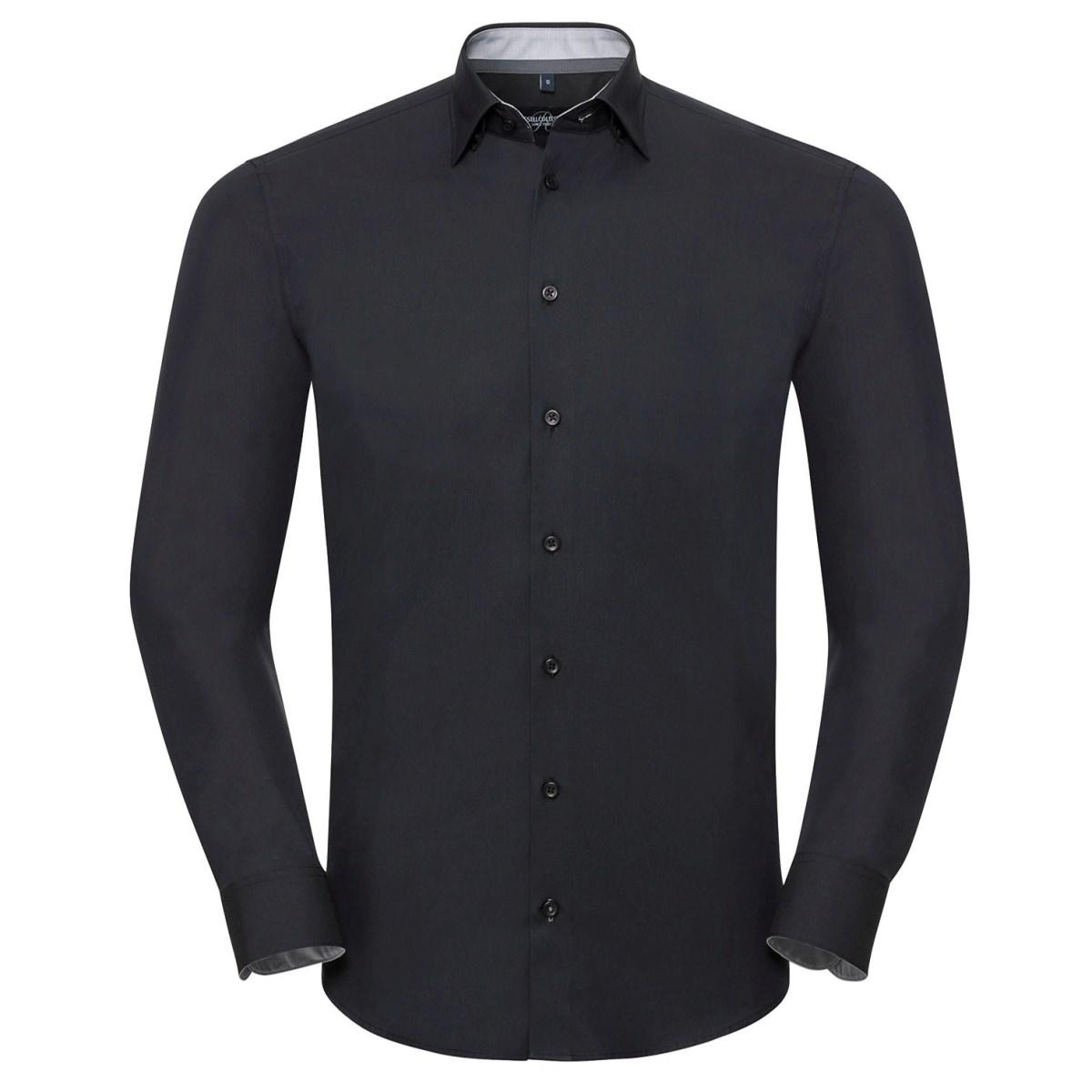 Tailliertes Ultimate Stretch Kontrast-Hemd - Langarm