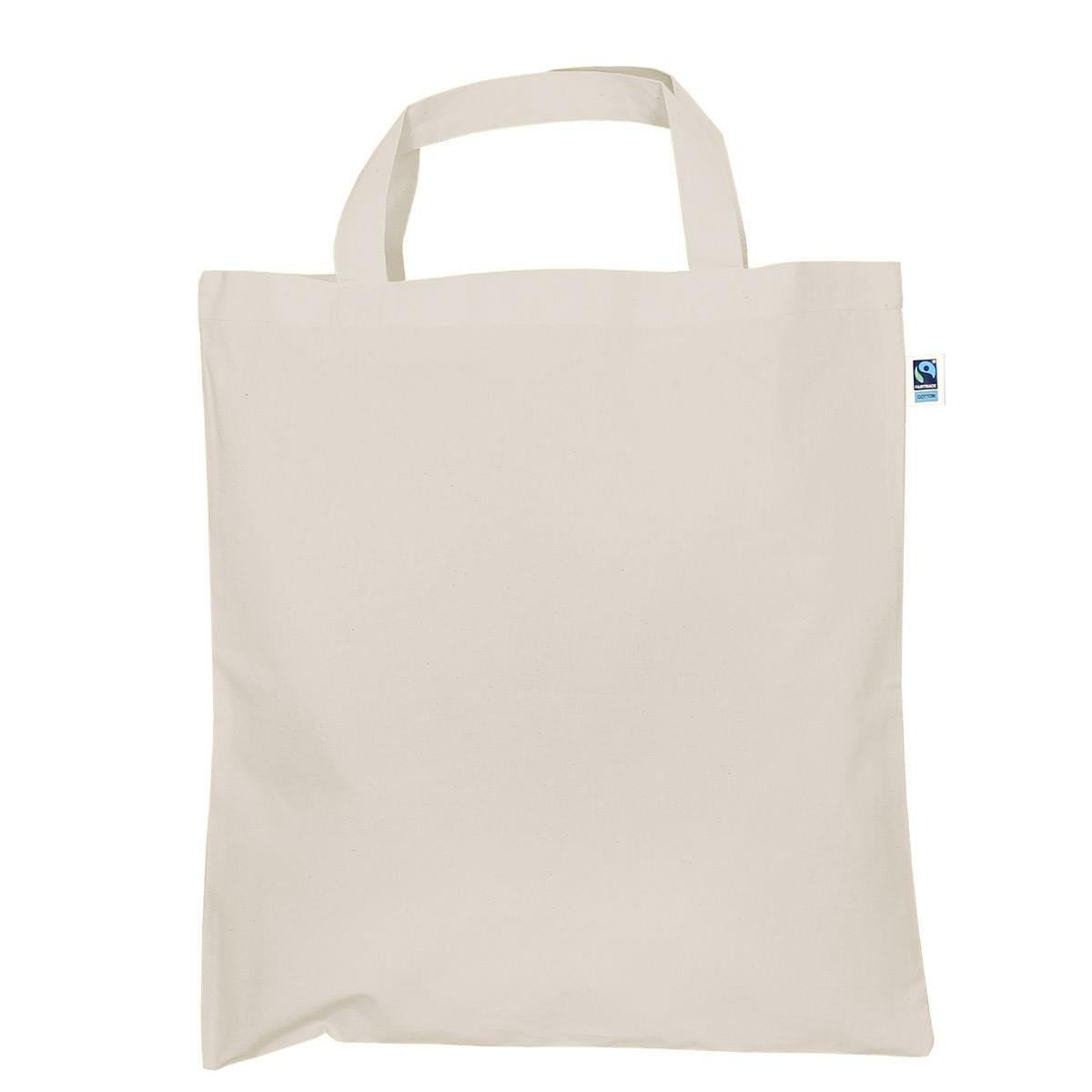 Tasche aus Fairtrade-Baumwolle mit zwei kurzen Henkeln