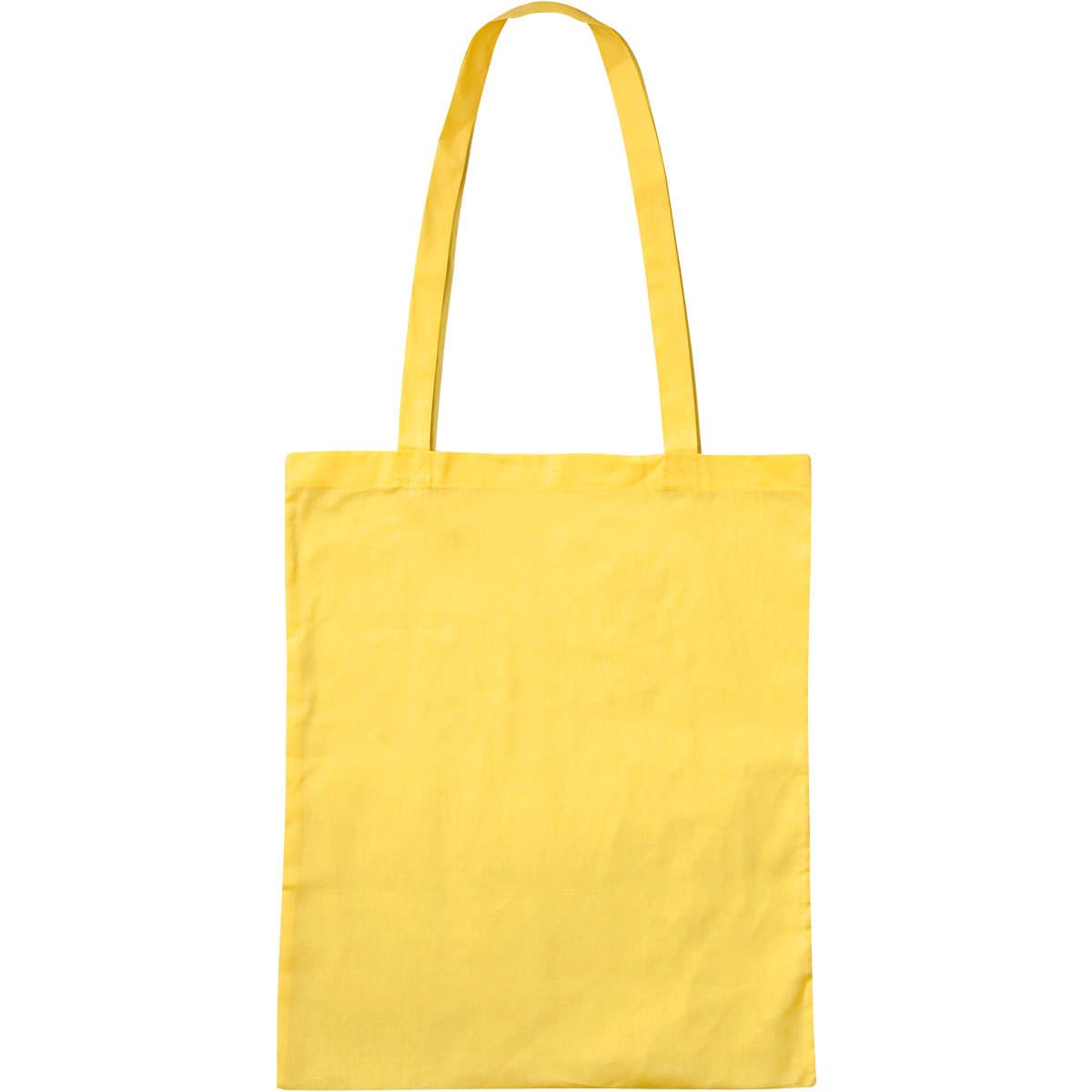 Baumwolltasche Basic mit zwei langen Henkeln