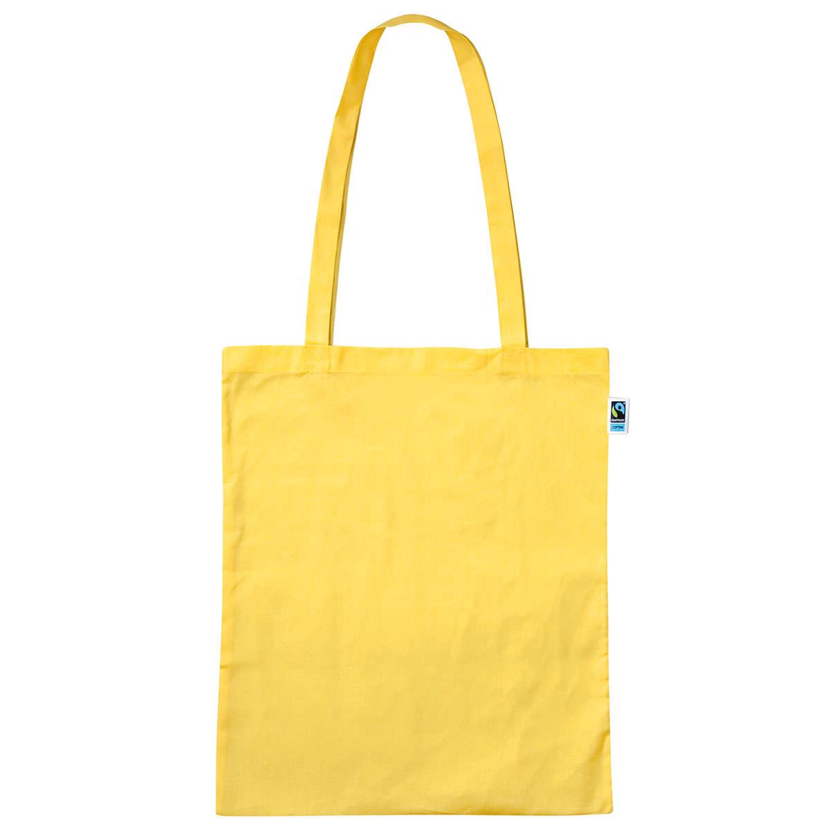 Tasche aus Fairtrade-Baumwolle mit zwei langen Henkeln