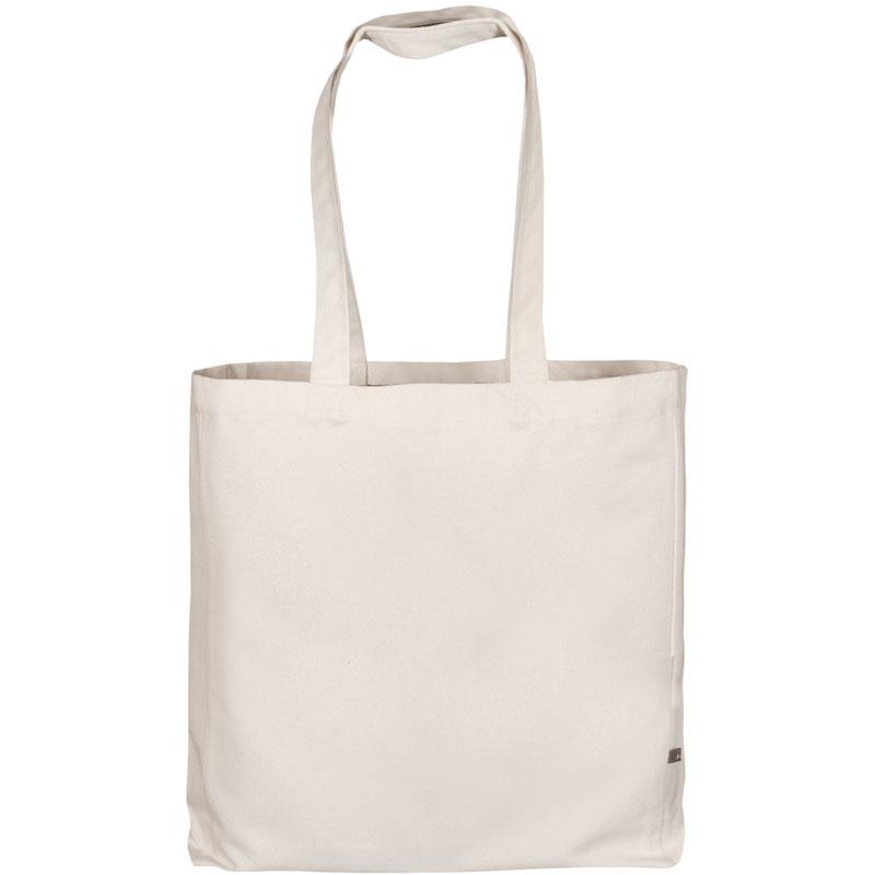 Canvas-Tasche Classic mit zwei langen Henkeln, Boden- und Seitenfalte