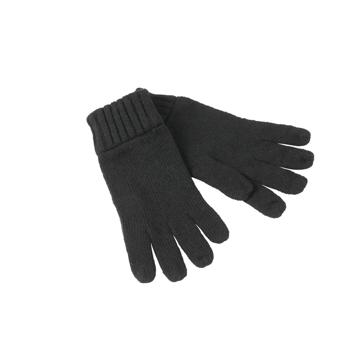 Melange Strick-Handschuhe